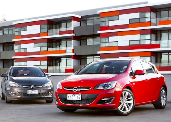 Opel Astra Australia September 2012