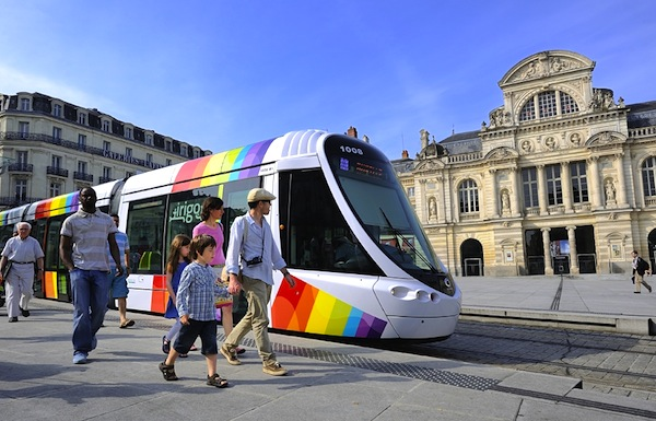 Tramway Angers France. Picture courtesy of angersloiretourisme2.com