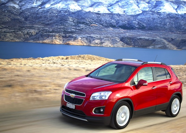 Chevrolet Trax France August 2013. Picture courtesy of largus.fr