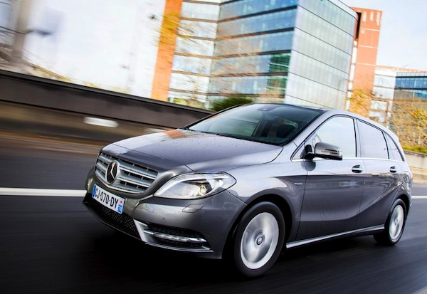 Mercedes B Class Germany April 2014. Picture courtesy of largus.fr