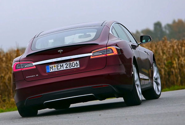 Tesla Model S Frankfurt Motor Show. Picture courtesy of Autobild.de