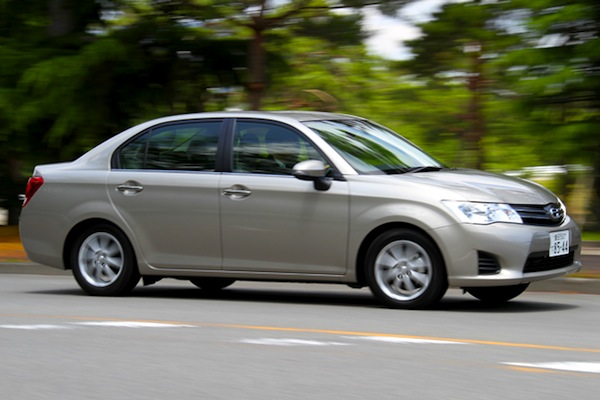 Toyota Corolla Japan August 2013. Picture courtesy of autoc-one.jp