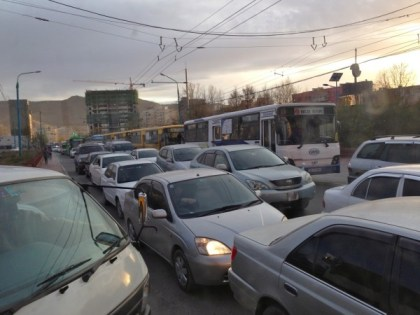 Ulaanbaatar traffic jam