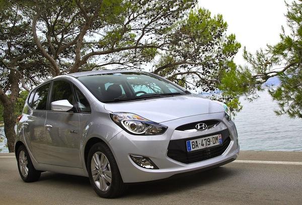 Hyundai ix20 Czech Republic September 2013. Picture courtesy of largus.fr