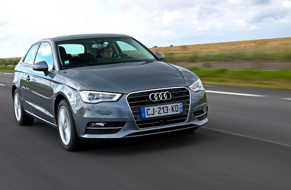 Audi A3 Europe September 2013. Picture courtesy of largus.fr