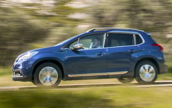 Peugeot 2008 Germany April 2014. Picture courtesy of automobile-magazine.fr