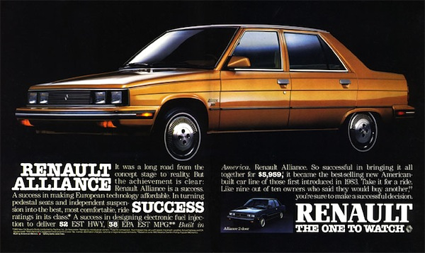 Renault Alliance USA 1983. Picture courtesy of autotitre.com