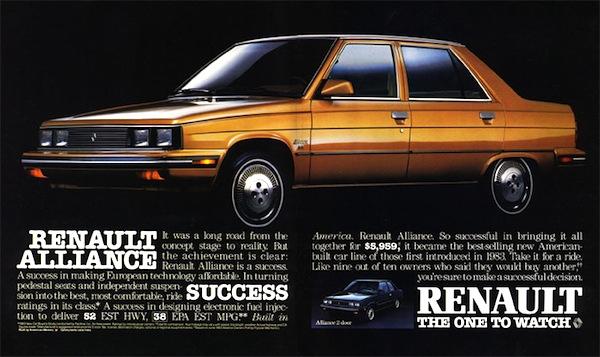 Renault Alliance USA 1983. Picture courtesy of autotitre.com