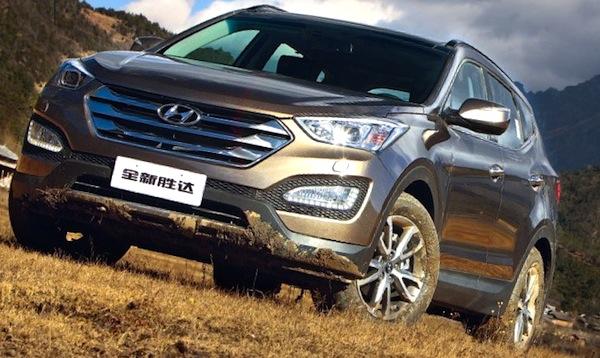 Hyundai Santa Fe China November 2013. Picture courtesy of bitauto.com