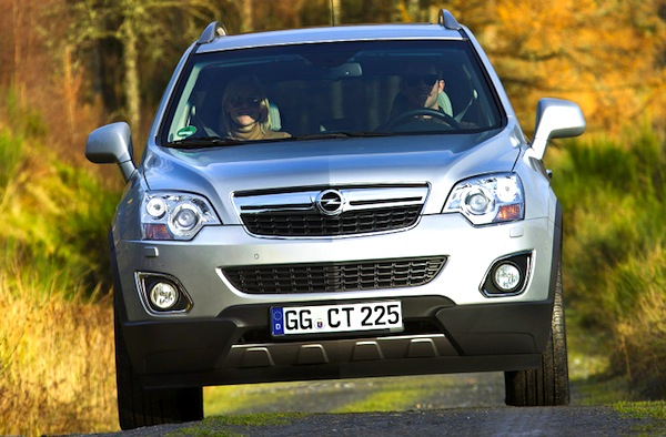Opel Antara Hungary November 2013. Picture courtesy of autobild.de