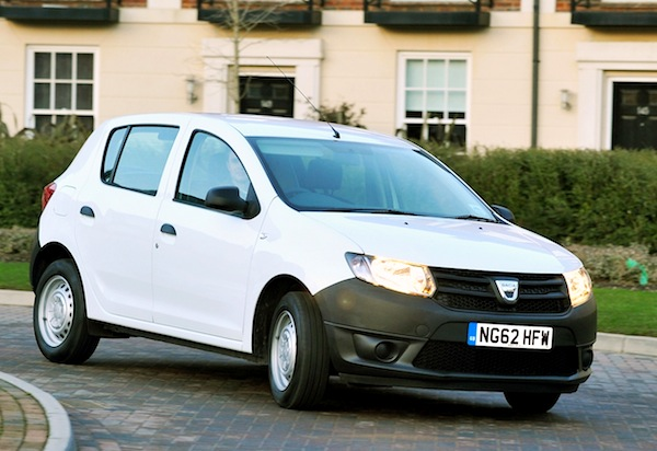Dacia Sandero Scotland December 2013