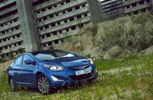Hyundai Avante South Korea 2013. Picture courtesy of hyundaimobis.tistory.com