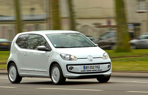 VW Up Denmark October 2015. Picture courtesy of largus.fr