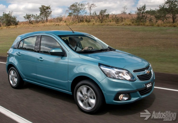 Chevrolet Agile Brazil January 2014
