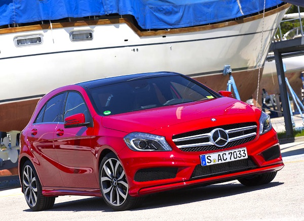 Mercedes A Class Portugal February 2014. Picture courtesy of largus.fr