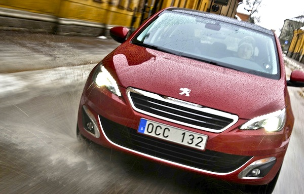Peugeot 308 Sweden February 2014. Picture courtesy of automotorsport.se