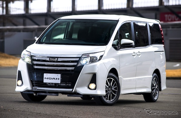 Toyota Noah Japan February 2014. Picture courtesy of gazoo.com