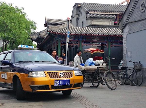 2 VW Santana Taxi Qudeng Hutong