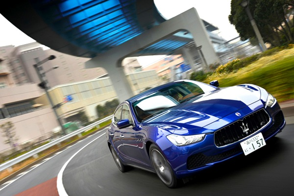 Maserati Ghibli Japan March 2014. Picture courtesy of asahi.com