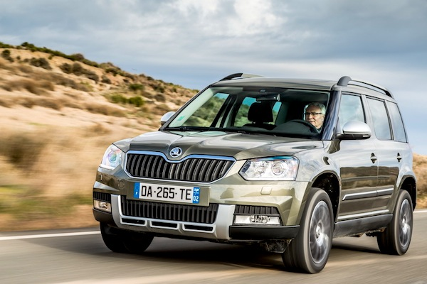 Skoda Yeti Italy March 2014. Picture courtesy of largus.fr