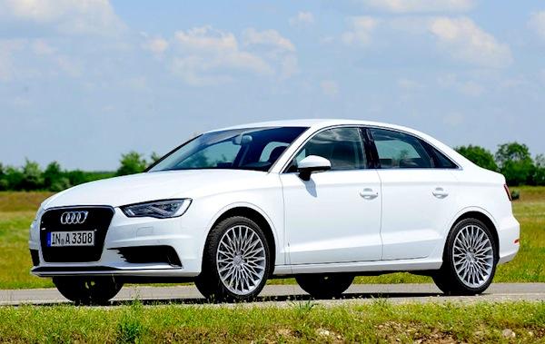 Audi A3 Limousine Germany April 2014. Picture courtesy of autobild.de