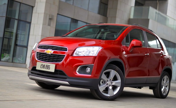 Chevrolet Trax China April 2014. Picture courtesy of auto.sohu.com