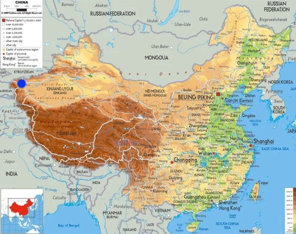 China Map. Picture courtesy of ezilon.com