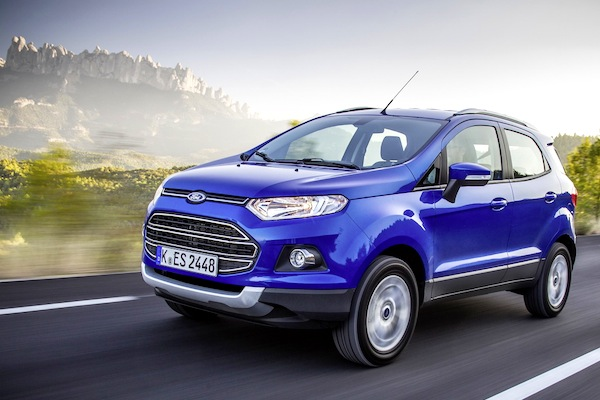 Ford Ecosport Spain November 2015. Picture courtesy of largus.fr