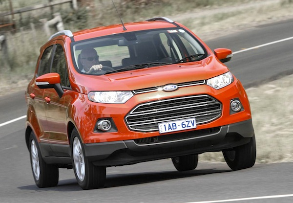 Ford Ecosport South Africa January 2015. Picture courtest of themotorreport.com.au
