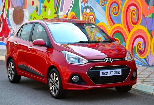 Hyundai Xcent India April 2014. Picture courtesy of Indianautosblog