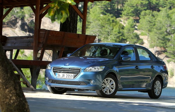 bosnia & herzegovina april 2014: peugeot 301 shoots up to #1