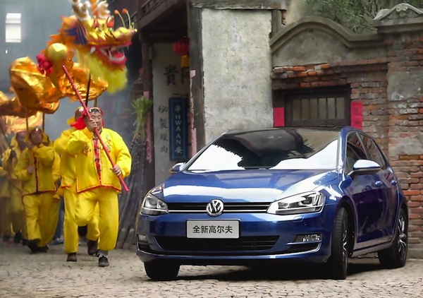 VW Golf China March 2015. Picture courtesy of bitauto.com
