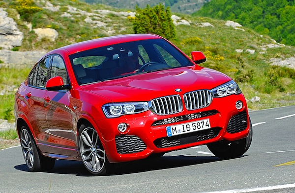 BMW X4 Germany May 2014. Picture courtesy of autobild.de
