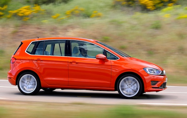 VW Golf Sportsvan Germany March 2015. Picture courtesy of largus.fr