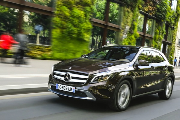 Mercedes GLA Spain October 2014. Picture courtesy of largus.fr