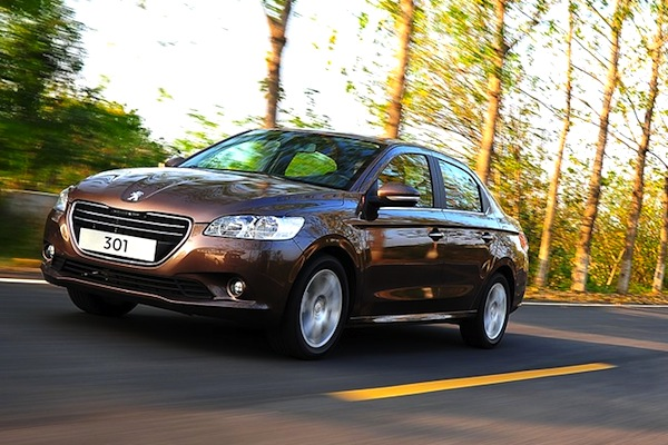 Peugeot 301 China July 2014. Picture courtesy of autohome.com.cn