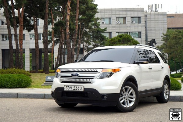 Ford Explorer South Korea July 2014. Picture courtesy of 100mirror.com
