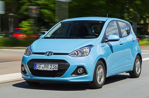 Hyundai i10 Germany August 2014. Picture courtesy of autobild.de