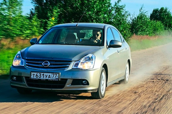 Nissan Almera Russia August 2014. Picture courtesy of zr.ru