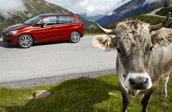 BMW 2 Series Active Tourer France September 2014. Picture courtesy of largus.fr