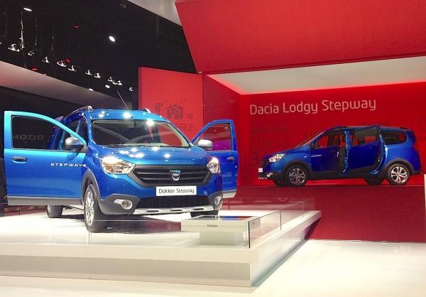 Dacia Dokker Lodgy Stepway Paris Auto Show 2014