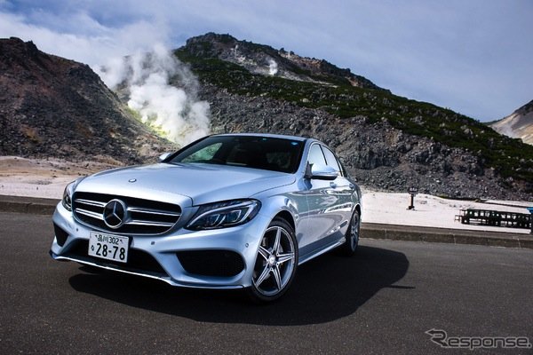 Mercedes C Class Japan September 2014. Picture courtesy of response.jp