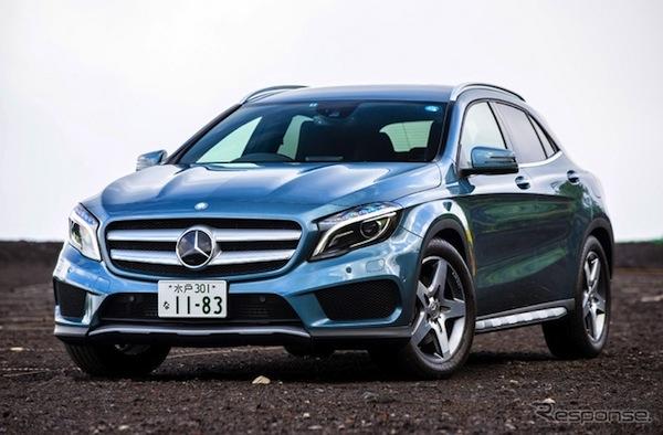Mercedes GLA Japan September 2014. Picture courtesy of response.jp