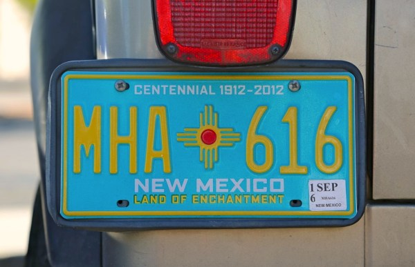 7. New Mexico License plate