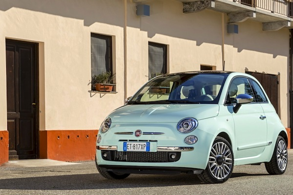 Fiat 500 Europe October 2014. Picture courtesy of largus.fr
