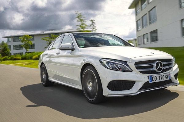 Mercedes C Class France March 2015. Picture courtesy of largus.fr