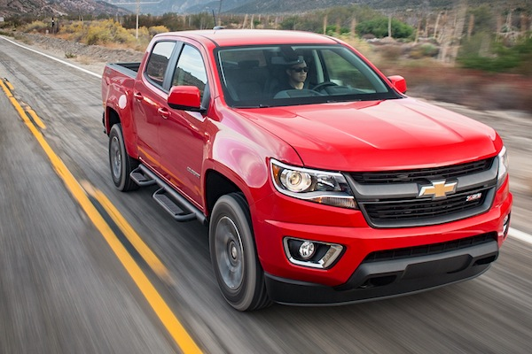 Chevrolet Colorado USA March 2015. Picture courtesy of motortrend.com