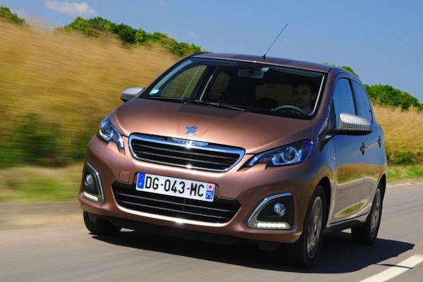 Peugeot 108 UK November 2014. Picture courtesy of autoexpress.co.uk