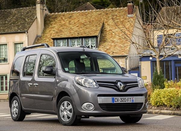 Renault Kangoo Belgium November 2014. Picture courtesy of largus.fr