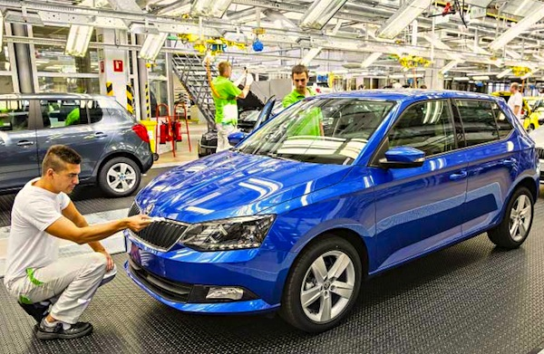 Skoda Fabia Czech Republic November 2014. Picture courtesy of praguepost.com